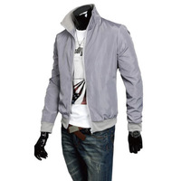 Free shipping 2013 New Movement Leisure Man's Jacket Coat M L XL XXL Gray Blue Black RG1303283