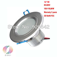 2013 Hot!!! Free Shipping Manufacturer Wholesale 12W 15W Warranty 3 Years Lifespan 50000h Super Bright LED Downlight Fixtures