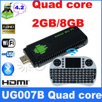 free rii i8 Mini PC Android 4.2 RK3188 Quad Core Cortex A9 2GB RAM+8GB ROM ug007 IIB DLNA+1080P XBMC TV dongle UG007B