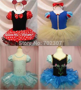 Retail !!! Free Shipping Halloween Girls dance dress  Party Christmas Costume Ballet Tutu Dress 2-6Y Kids MD001