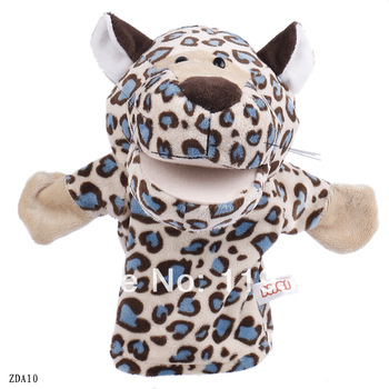Free Shipping Kid Children Plush Velour Hand Puppets Farm Leopard Learning Aid Girl Boy Toy Wholesale Hot Sale ZDA10
