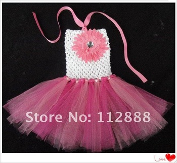 2013 Fahion Girls Tutus Dresses Baby Girl Crochet Tutus Infant and Toddler Flower Party Dress Girl Summer Dresses Free Shipping