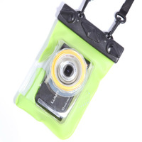 Free Shipping Belt Retractable Lens HD Card Camera Waterproof Bag case For Swimming Snorkeling Tteoobl GQ-318 GREEN