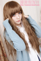 LOLITA BROWN 80cm Free shipping LONG WAVY wig Anime Cosplay Party Hair full wigs new CWF0434