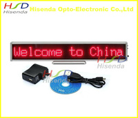 DHL Free shipping,2pcs/lot,LED message board signs,16*128 dot,Red color,340*54*15mm,Support Russian,Multi-language