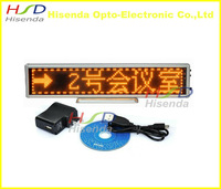 DHL Free shipping,2pcs/lot,LED advertising signs,message signage digit indoor 16*96 dot, Yellow color