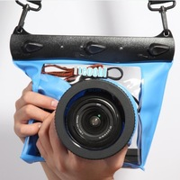 Free Shipping BLUE Tteoobl 20m HD SLR Camera Waterproof Bag Can Shutter Focusing Digital Camera Waterproof Bag  GQ-518L