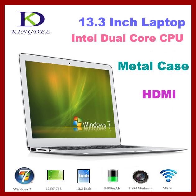 "2013 New 13.3"" Super Thin Laptop, Notebook, Intel i3 Dual Core 1.80Ghz Quad Threads, 2GB RAM, 64GB SSD, Webcam, 8400Mah Battery(China (Mainland))"