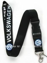 Freies Verschiffen 10 Stücke Volkswagon Schlüsselanhänger Hals Lanyard pass Logo Keychain ID VW Großhandel(China (Mainland))