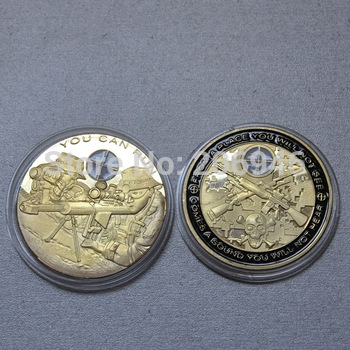 Newest 2013! United States Army Sniper gold plated coins free shipping 20pcs/lot metal souvenir coin