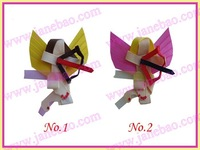 free shipping 30pcs girl bug bows clips angel ant mickey mouse Bee ribbon bows
