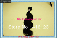 Mix length 12-32inch body wave 4pcs/lot queen brazilian virgin hair human hair extensions 3.5oz/pcs shedding free