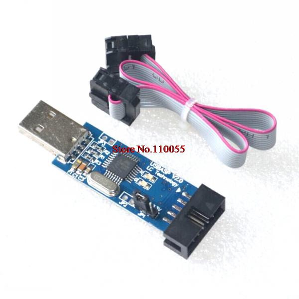 FREE SHIPPING 1LOT New USBASP USBISP AVR Programmer USB ATMEGA8 ATMEGA128 Support Win7 64K(China (Mainland))