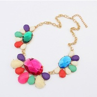 Min order 15USD(Mix Item)Europe and the United States exaggeration Magic gem fashion boutique Necklace