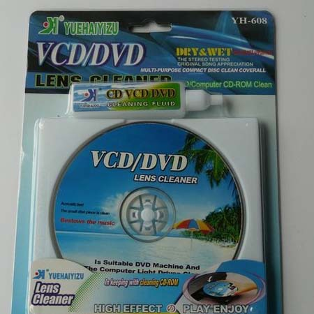 Guangdong yh-608 cd dvd disc player optical drive cleaning cd wet-and-dry general(China (Mainland))