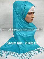 FD042 new fashion solid color 100% cashmere big islamic muslim scarf