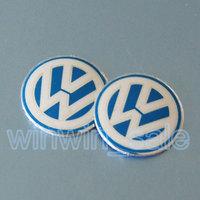 10pcs/lot 14mm Remote Key Fob Logo Badge Emblem For Volkswagen VW Jetta Golf Passat