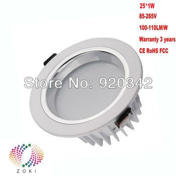 2013 Hot!!! Free Shipping Factory Supply 25W 30W Warranty 3 Years CE RoHS Lifespan 50000H High Lumen COB LED Downlight