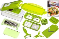 Free shipping Nicer Dicer Plus Vegetables Fruits Dicer Food Slicer Cutter Containers Chopper Peelers Set as seen on tv