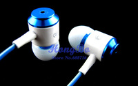 Wholesale&Retail 1PCS 3.5mm Stereo In-ear Headphone Earphone Headset With Mic for Mobile Phone MP3 MP4