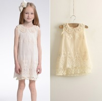 children new summer lace dress with pearl wholesale girls clothes 5pcs/lot most country free shipping