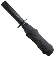 Free Shipping Japanese Style Ninja Sword Umbrella Automatic Black Folding Knife Snickers Umbrella Accept Drop Shippping