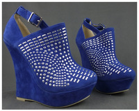 2013NEW Arrived! Free shipping 3  colors  super fashion sequined flock high heel platforms wedges woman shoes