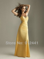 Hot A-Line Sweetheart Off the Shoulder Sleeveless Sequined Pleated Satin Fashion Lace up Back Evening Dress ENS16+Free Shipping