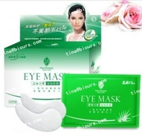 30pairs/box 8hours  de-puff  tightens for dark puffy under eye areas aloe gel eye mask