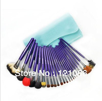 Free shipping 23 pcs Professional Wool Makeup Brush Set Of Brushes Makeup Beauty Makeup Makeup Tools Send Cosmetic Bag