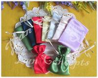 Free shipping Wedding Satin Favors Candy Drawstring Pouches Jewelry Gift Bag -  7x9cm 120pcs/lot  BN0123A
