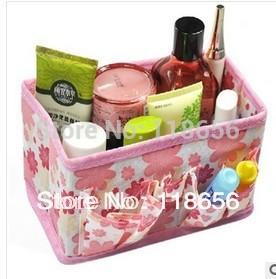 18*15*10cm Polka Dot Thickening Desktop Cosmetics Storage Box Wholesales Free shipping(China (Mainland))