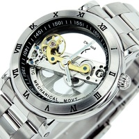 watch brand Ik Men's High Quality Complete Transparent Automatic Mechanical Watch With Excellent Waterproof Can Swimming Watches