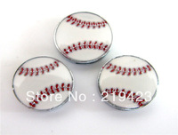 50pcs  8mm  Zinc alloy baseball slide charmsfit for wristands pet collars and keychains