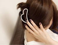 FREESHIPPING 2014New fashion  sweet heart Acrylic hair claw hair caught women hair accessories