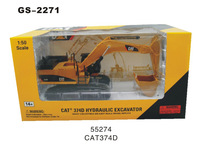 1:50 Cat 374D  hydraulic excavator die cast scale model  toys