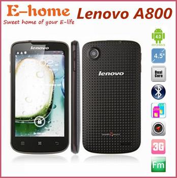 Original Lenovo A800 MTK6577 Dual Core 1.2GHz 4.5 Inch Screen Dual SIM 3G GPS WIFI 512MB 4GB Russian Polish Languange Support