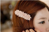 FREE SHIPPING!2014 New  hair styling  beaded hair clip hair grip hairpin barrettes hair accessories