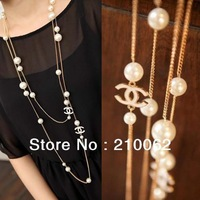 Free shipping Strand Pearl Necklace CN0328 fashion costume jewelry necklace 20pc/lot