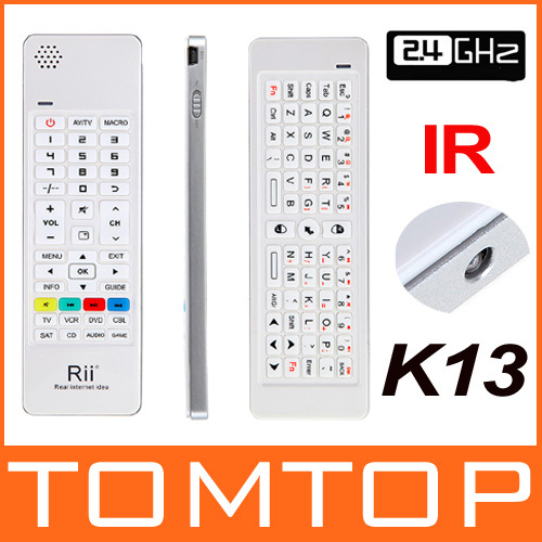 Hot Rii 2.4G Mini Wireless Keyboard Air Mouse IR Remote Audio for XBOX 360PC Android TV Box HTPC/IPTV PS3 Free Drop Shipping(China (Mainland))