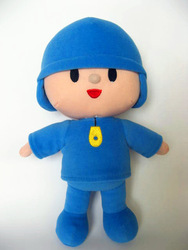 Wholesale 2013New Pocoyo plush soft toys 12'', 30cm Cartoon soft doll pocoyo stuffed figure toy for Kids best gift Free Shipping(China (Mainland))