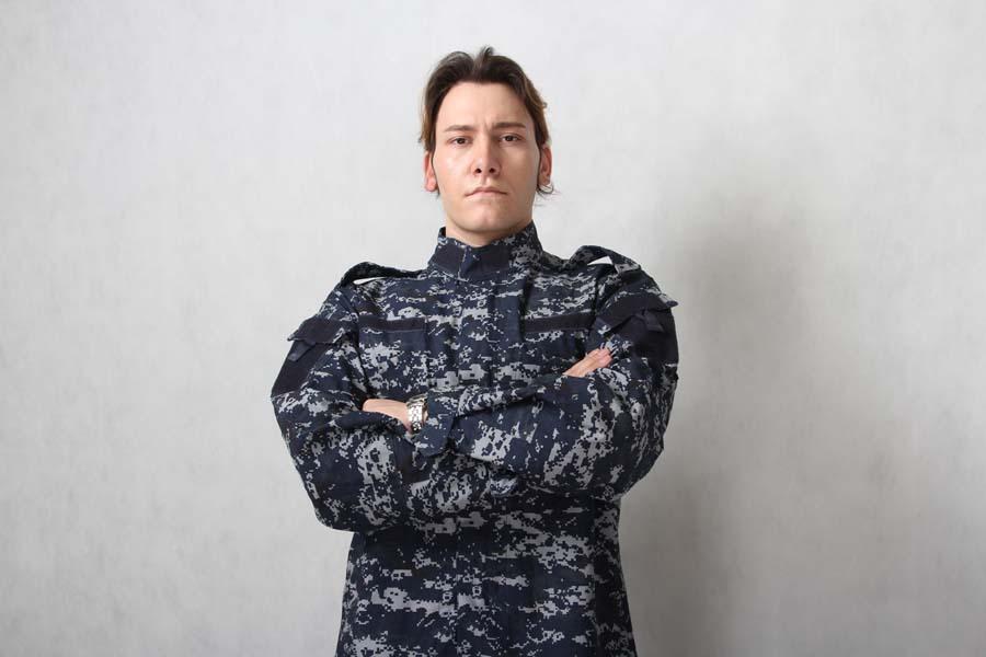 US Navy ACU Field Uniform Set Digital Navy Blue Camo S,M,L,XL Free ...