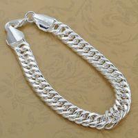 H102 Free Shipping Wholesale 925 silver bracelet, 925 silver fashion jewelry 10mm Bracelet