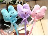 Creative cute plush rabbit style ball pen ballpoint pen Promotion Gift Free Shipping