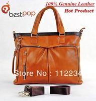 100% genuine leather 2013 fashion designer shoulder bag for men messenger bags,Free Shipping