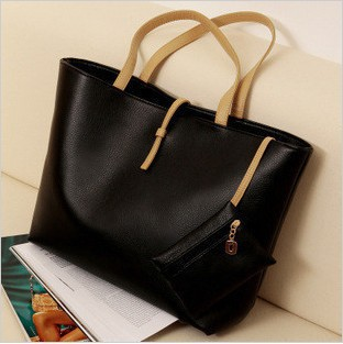 Hot Sales Free Shipping 2012 New Arrival Classic Style High Quality Handbags Elegant hand bags (a big one and a small one)tote(China (Mainland))