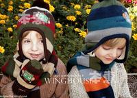2014 New Fashion Plaid Winter Baby Hats Scarf Set Kids Warm Earflap Caps Brand Shawl Child Muffler For 2-5 Years Free Shipping