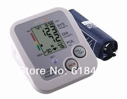 Hot item Free shipping Electronic Arm blood pressure meter automatic monitor 5PCS/LOT excellent quality(China (Mainland))