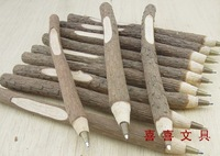30pcs/lot Stationery eco-friendly ballpoint pen wood tree branch ball pens gift for student