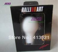 Plastic RALLIART Racing Car Gear Shift Knob For Mitsubishi M/T Evo 5 6 7 8 9 Space Wagon Black/White